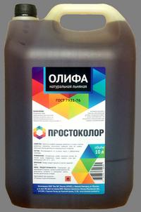 "Олифа льняная натуральная ""Простоколор"" 10л"