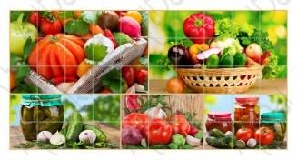 ПВХ панель Мозаика щедрый урожай (955х480мм)