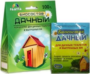 Средство по уходу септиков и выгребных ям дачных туалетов Дачный 100гр