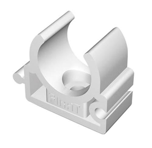 П-Крепление одинарное ф32 белое настенное (5шт)