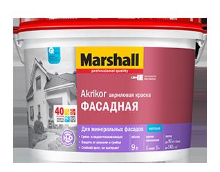 Краска MARSHALL Фасадная акриловая мат 2,5л BW