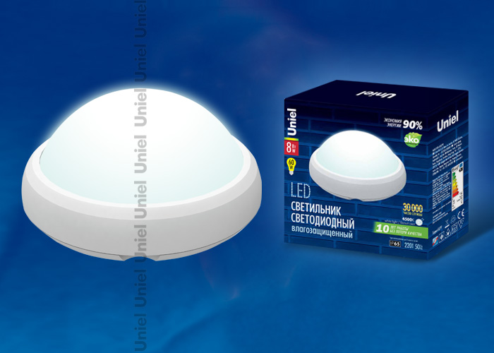 Светильник светод-ый ULW-Q221-8W/DWкруг IP65 белый