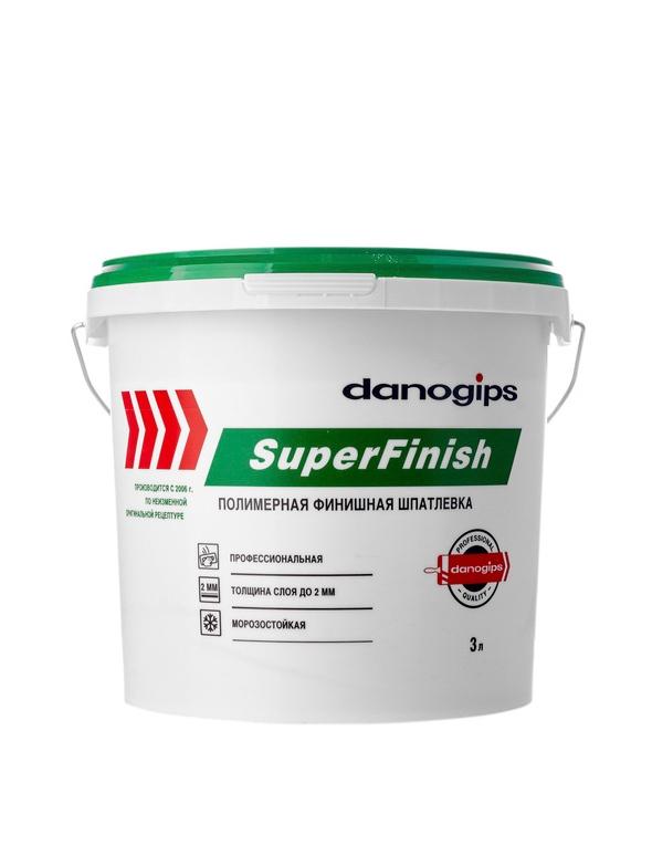 Шпатлевка готовая Danogips Super Finish 5кг-3л (Шетрок)