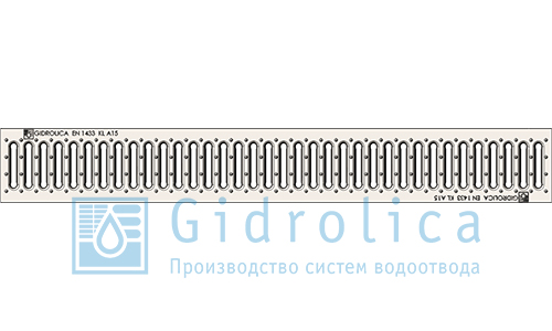 Решётка водоприёмная штампованная стальная оцинкованная 1 м