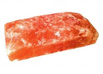 Плитка Гималайская соль 20х10х2,5 см одна сторона фактурная