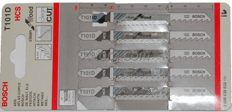 Пилки Т111D для лобзика по дереву 5 шт.4-50