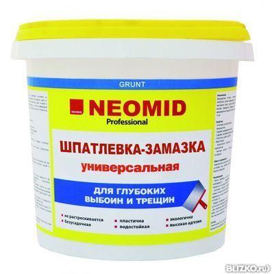 Шпатлевка готовая Неомид для выбоин и трещин 5кг