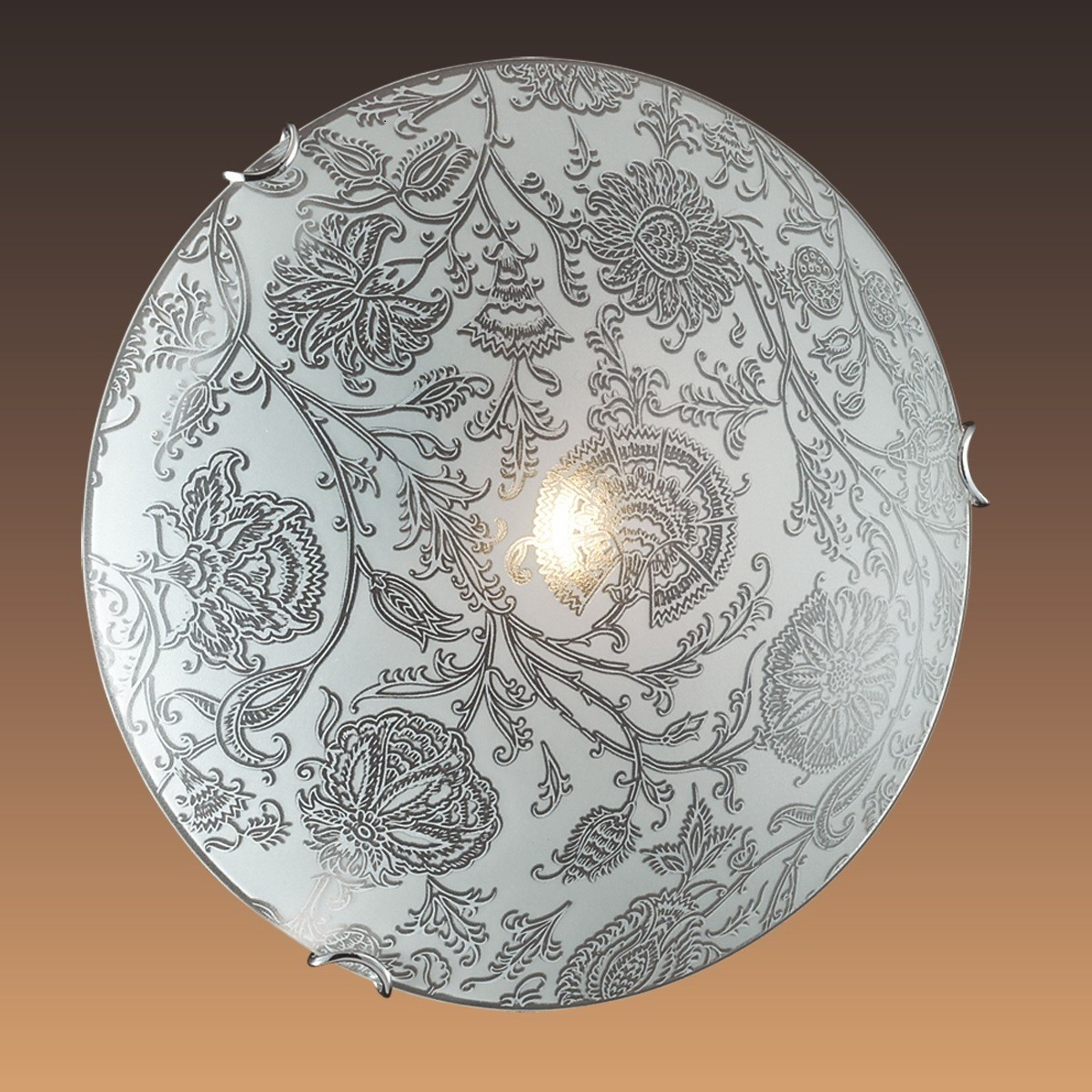 Светильник Сонекс 179К,хром/белый/декор