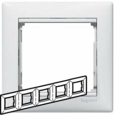 Рамка 5-мест. горизонтальная белая 774455 (Legrand)