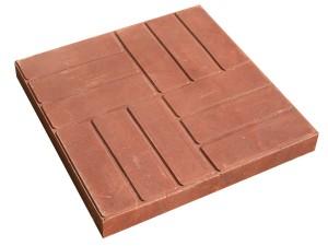 Плитка полимерно-песчаная тротуарная 35х350х350 красная