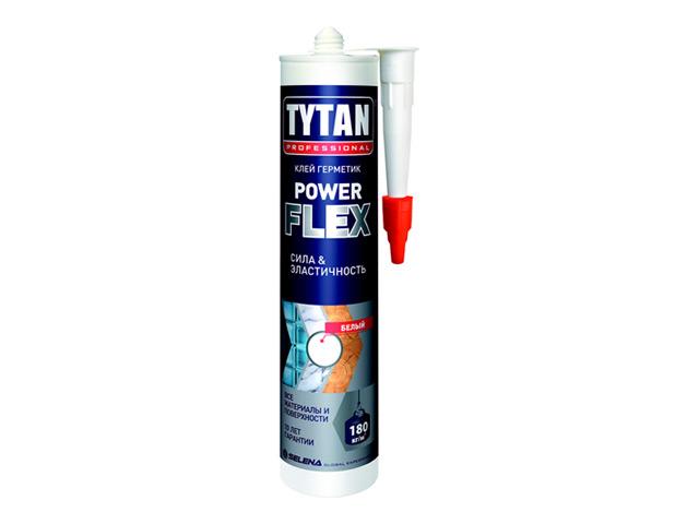 Клей монтажный Титан Power Flex прозрачный 290 мл