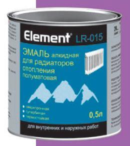 Эмаль для радиаторов Элемент LR-015 0,5л белая полумат.