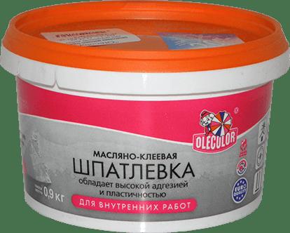 Шпатлевка готовая масляно-клеевая д/внутренних работ 0,9кг OLECOLOR