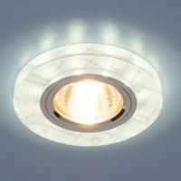 Светильник точ - 8371 WH/SL белый/серебро