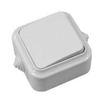 Выключатель 1кл о/у (А16-222) белый,серый,влагозащ.