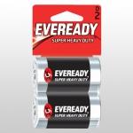 Батарейка солевая*24 EVR SUPER R20 D 2шт/бл