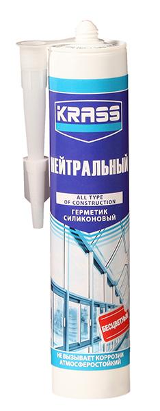 Герметик KRASS силиконовый нейтральный бесцветный 300 мл