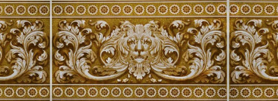 ПВХ панель  2700х250х8 Львы золото