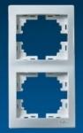 Рамка Lezard  2-я вертикальная белая