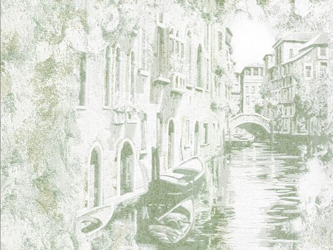 1619 ОБОИ 1,06*10 м виниловые Венеция  фон  бирюз