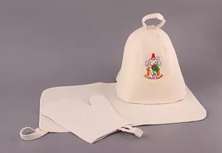 Набор банный в ассортименте (шапка, коврик, рукавица, тапки)