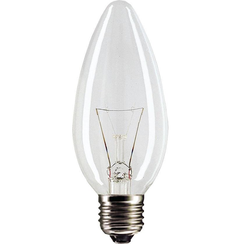 Лампа GE 90, 60 Вт (свеча прозрачная)