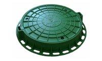 Люк полимерный 110 мм х ф-760 мм (зеленый), масса 38 кг, нагрузка 7 т