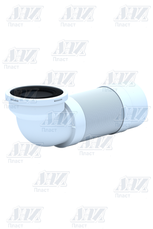 Удлинитель гибкий К722R для унитаза угол 90град с выпуском 110мм