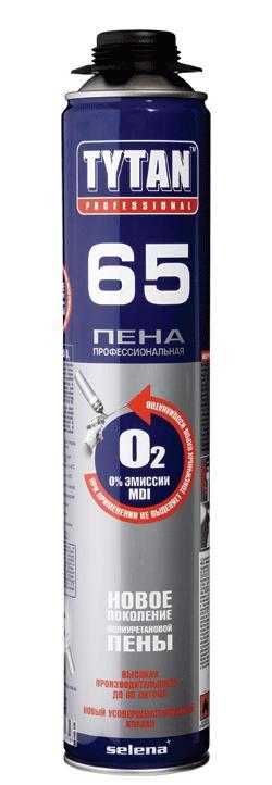Пена монтажная ТИТАН ПРОФИ 65 зима -20*750мл