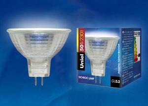 Лампа галогеновая 50W, 220V GU5.3