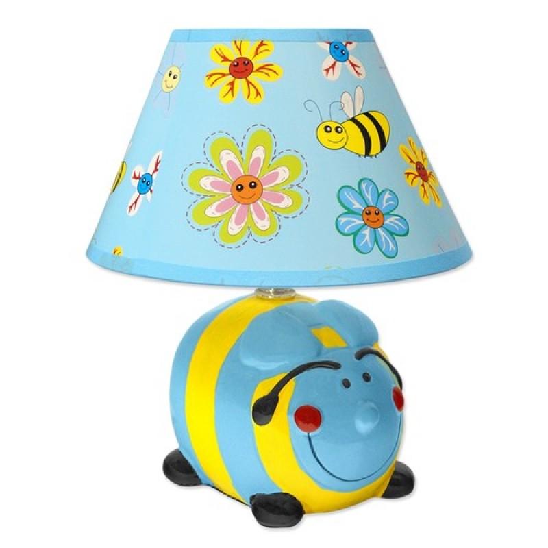 Светильник настольный KD-552 голубой/желтый Шмель