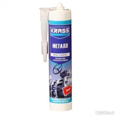 Герметик KRASS силикон для металла 300 мл бесцветный