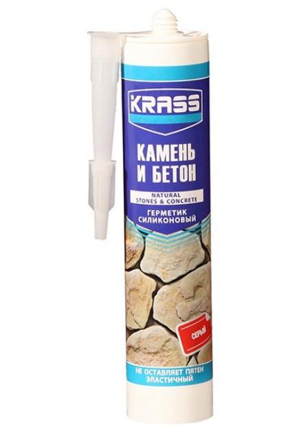 Герметик КRASS силикон для бетона и натурального камня прозрачный 300 мл