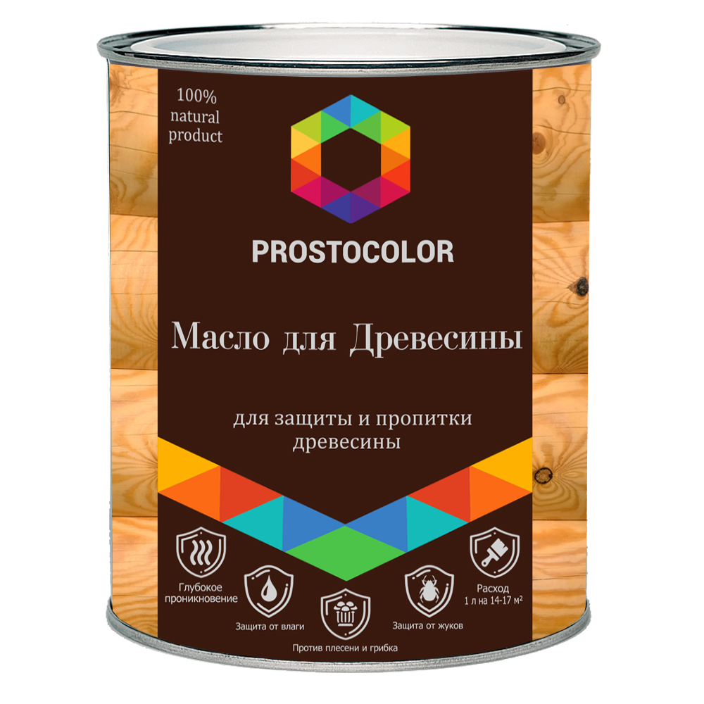 Масло для древесины льняное Простоколор 2,2л
