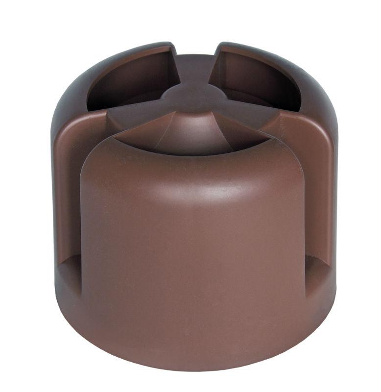Колпак на трубу кровельный коричневый Krovent HupCap