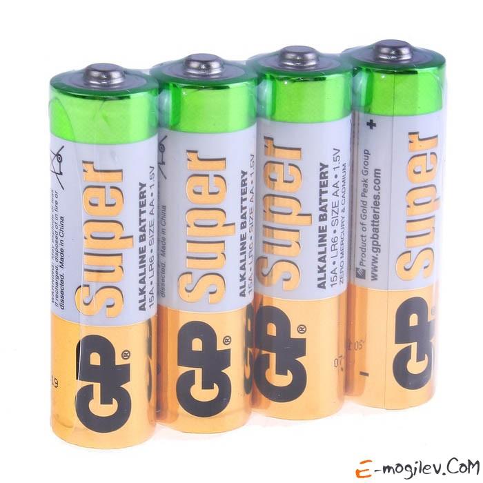 Батарейка палец GP АА-4 штуки в блистере