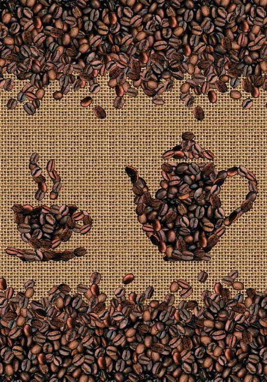 ПВХ фартук Кофейные зерна 3000х600х1,5мм
