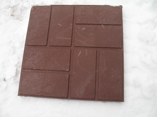 Плитка полимерно-песчаная тротуарная 25х330х330 коричневая