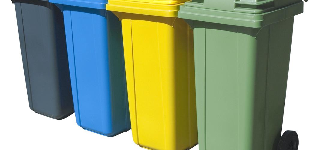 Бак пластиковый для мусора на колёсах  240л