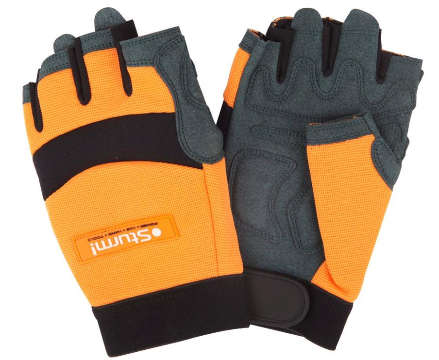Перчатки рабочие открыт.пальцами M-L