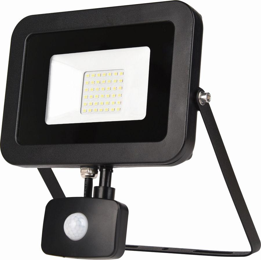 Прожектор светодиодный 20Вт,ЭРА LPR-4000К-М Эко слим датчиком движения
