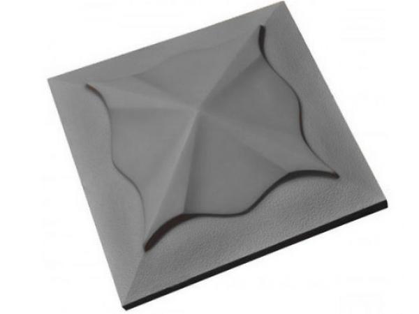 "Плитка ""Колпак"" (медуза) фигурный, серая 450х450х70 мм"