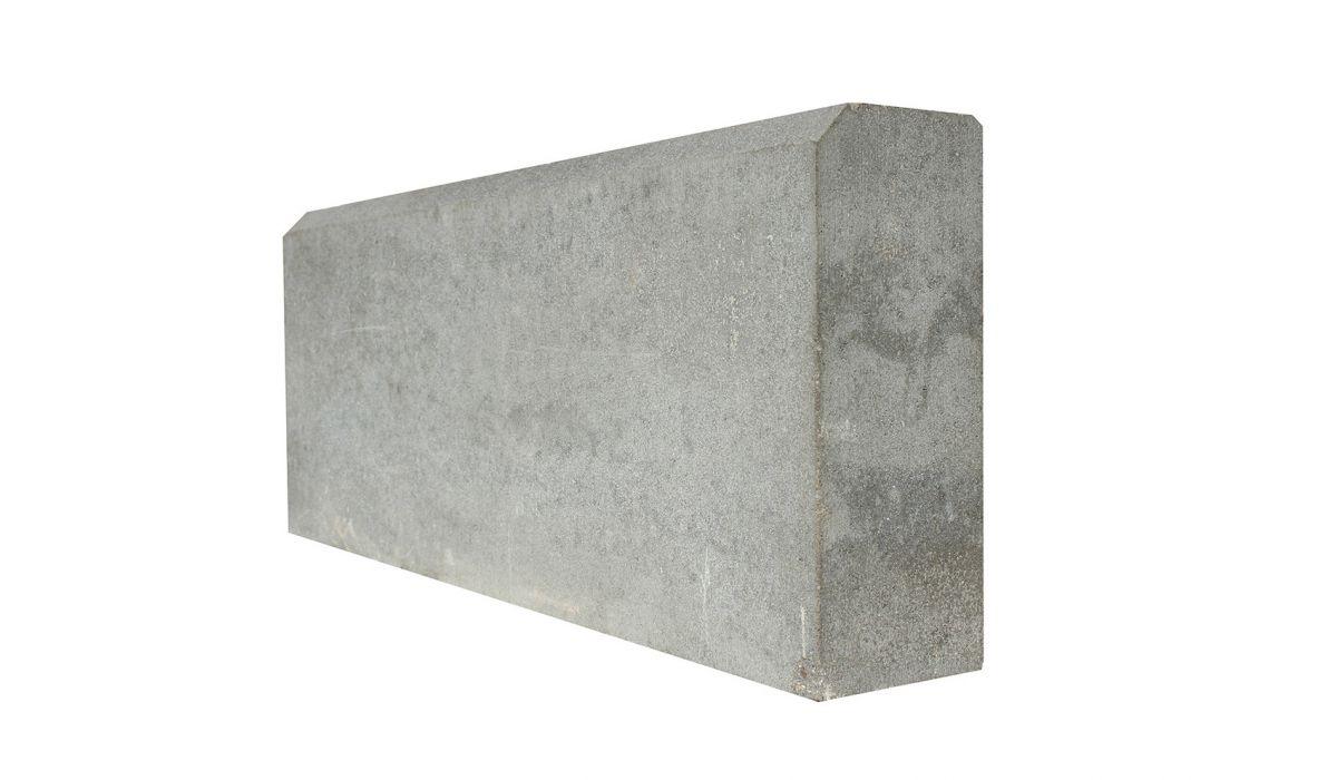 Бордюр тротуарный, прессованный серый 500х210х60 мм