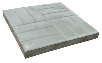 Плитка тротуарная 500х500х50 мм серая  вес-28,25 кг.