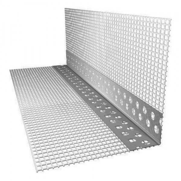 Угол ПВХ с сеткой 100х150мм для фасадных работ 2,5м