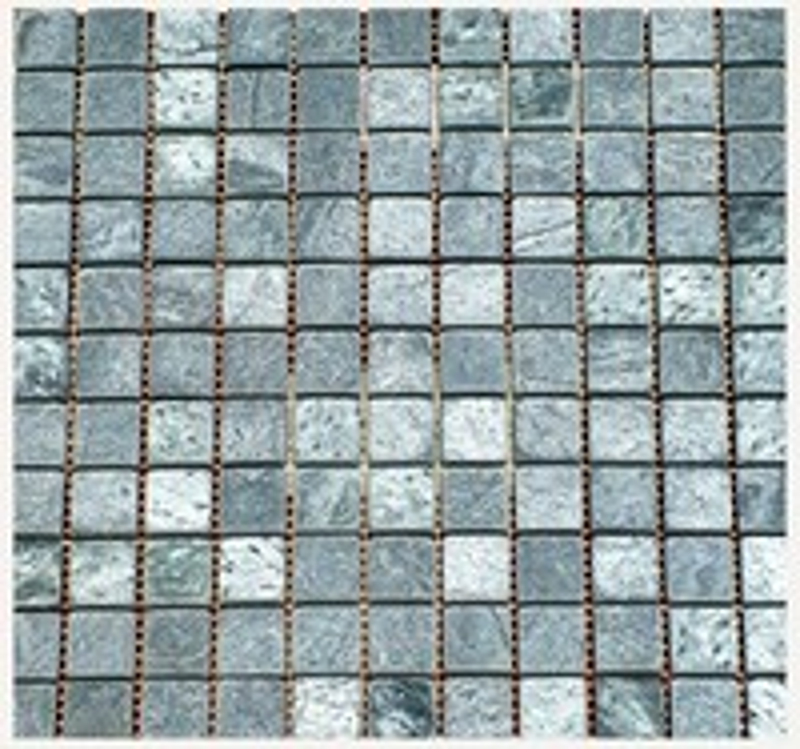 Плитка натуральная из камня Змеевик 300х300х10мм (Мозаика)
