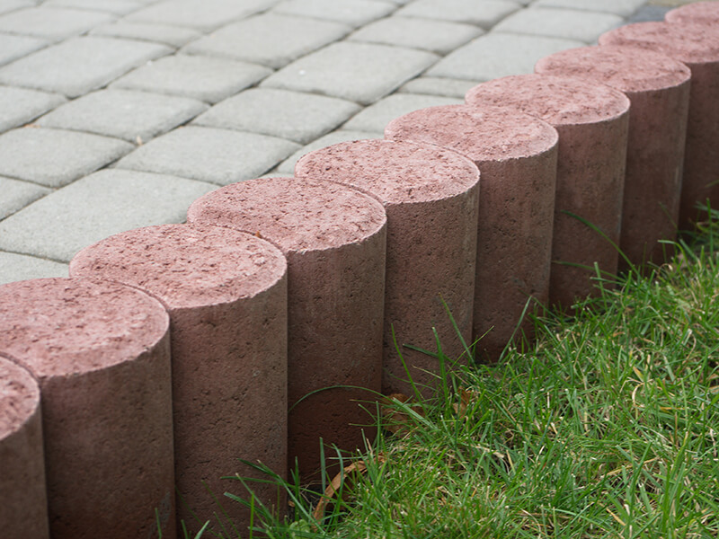 Плитка бетонная круглая 100х250 ПАЛИСАД винный  (поддон 264шт)