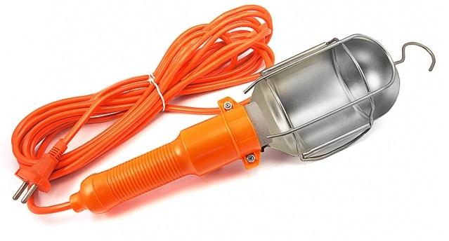 Светильник- переноска LUX ПР-60-15 оранжевый 15 м.