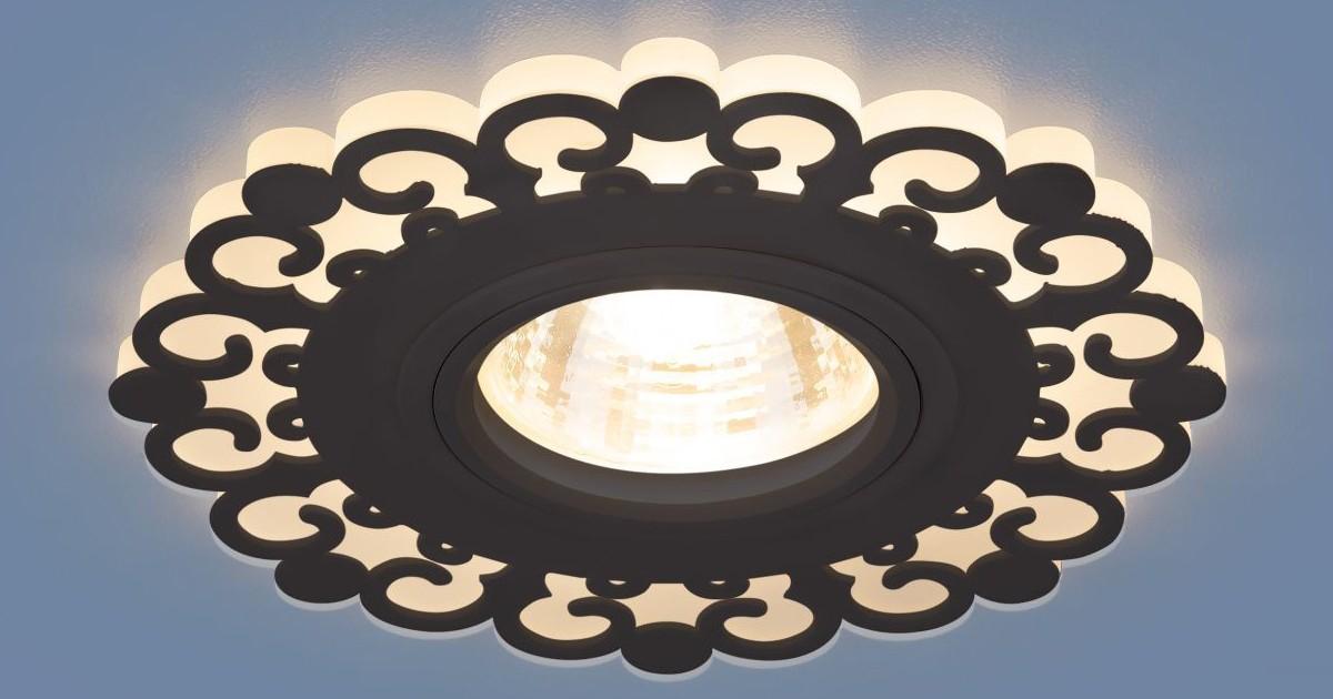 Светильник точечный - 2196 ВК черный