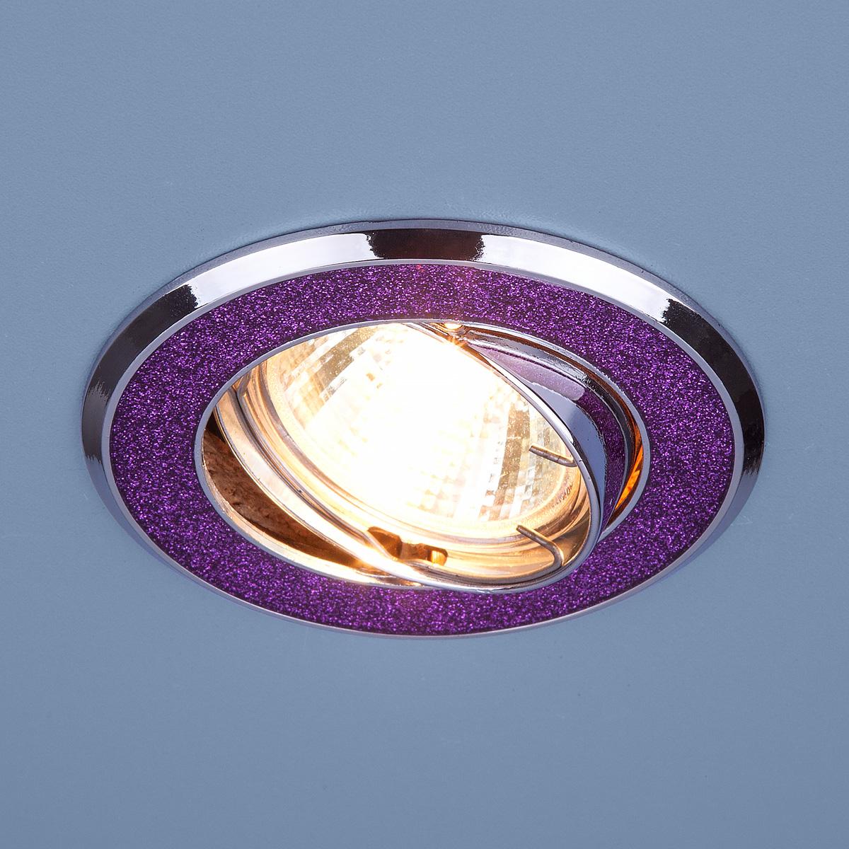 Светильник точечный 611 MR16 MUС малиновый блеск/хром